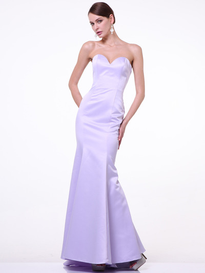 C8792 Strapless Sweetheart Mermaid Gown - Lavender, Front View Medium