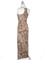 CA1551 Leopard Print Tank Jersey Maxi Dress - Leopard, Back View Thumbnail
