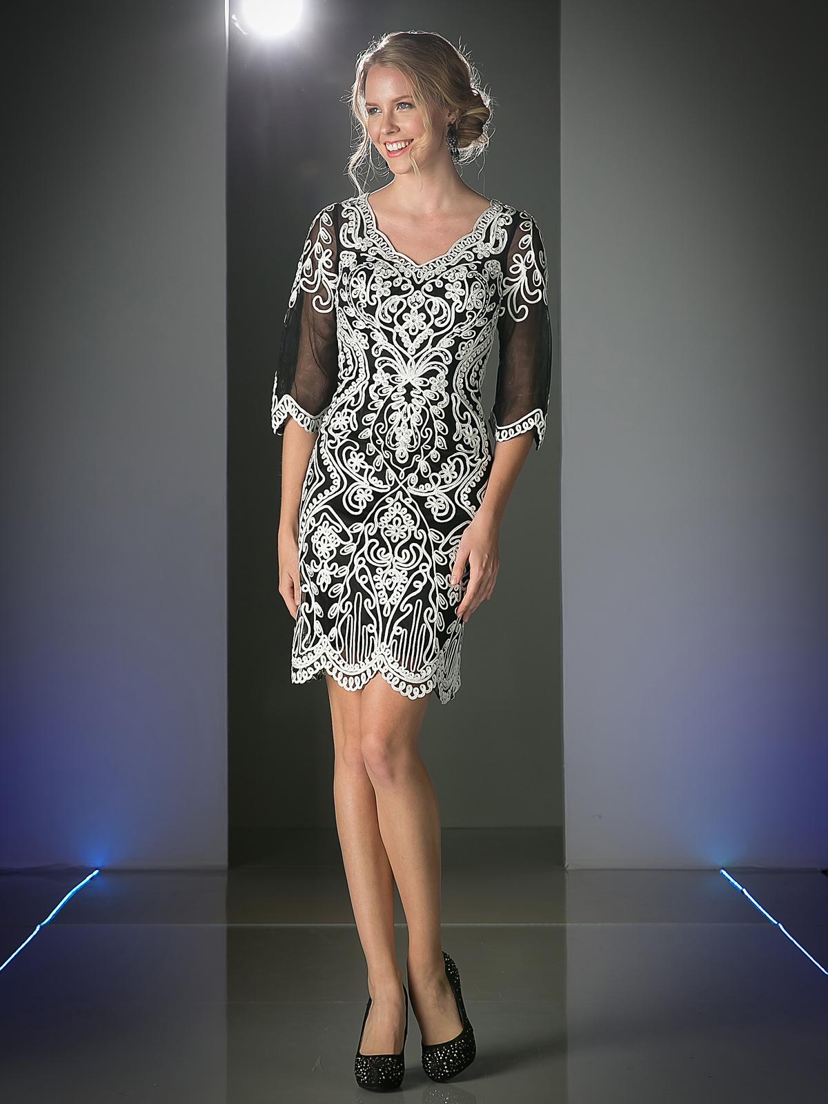 Three Quarter Sleeve Cocktail Dress | Sung Boutique L.A.