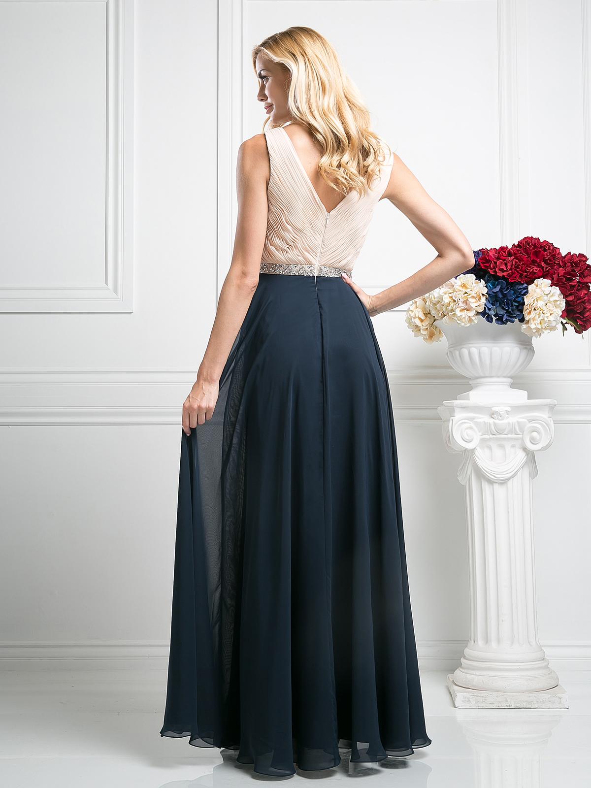 Sleeveless V Neck Bridesmaid Dress Sung Boutique L A