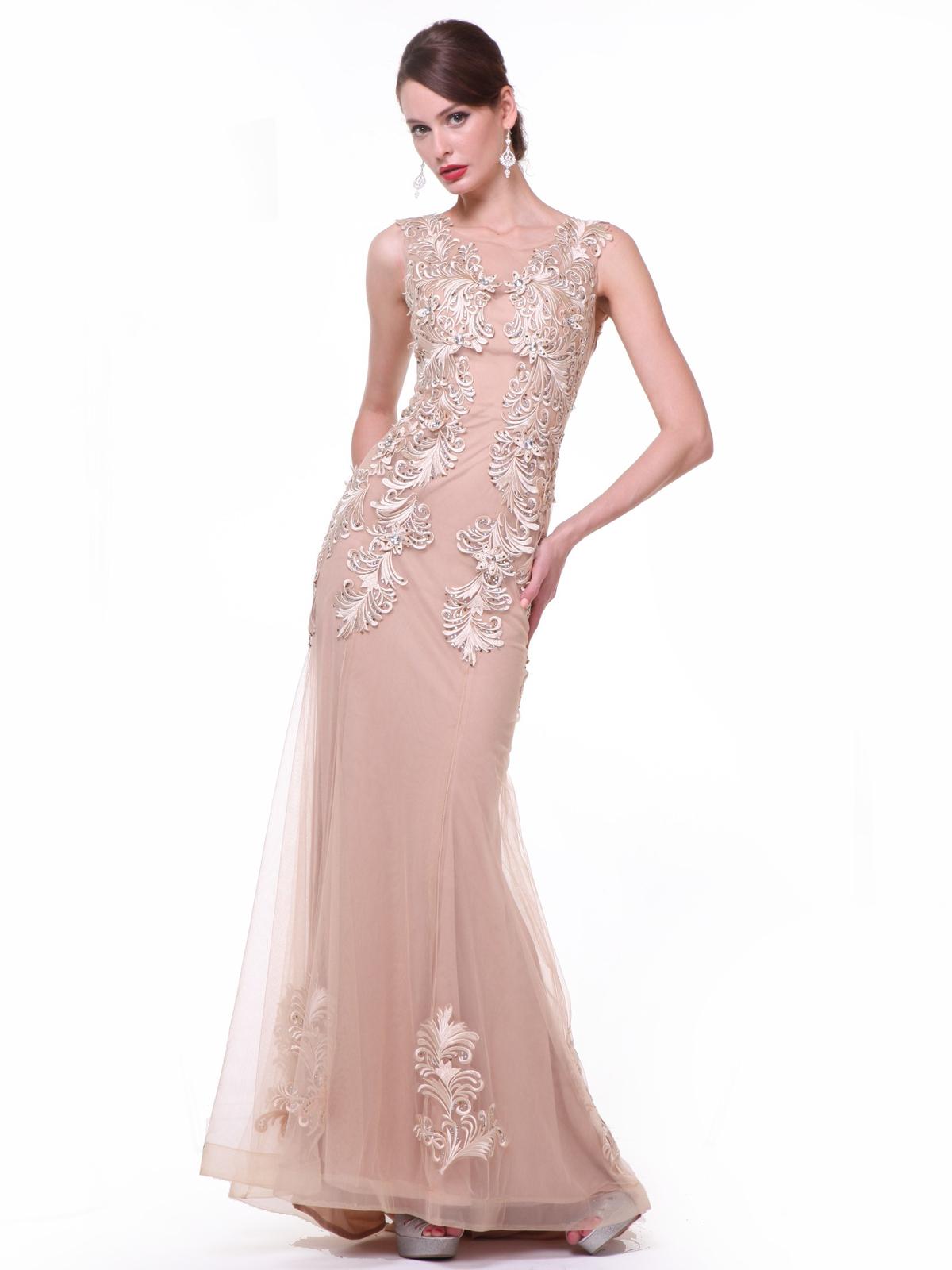 Sheer Lace Applique Formal Dresses | Sung Boutique L.A.