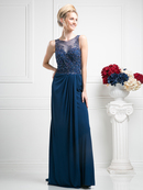 CD-61000 Illsuion Sweetheart Mother of the Bride Dress, Navy