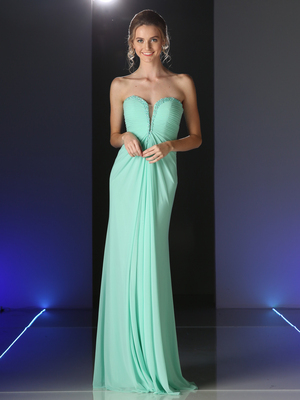 CD-663 Strapless Sweetheart Evening Dress, Mint