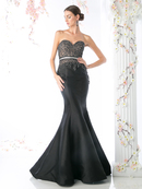 CD-CB762 Strapless Trumpet Gown with Sweetheart Neckline, Black