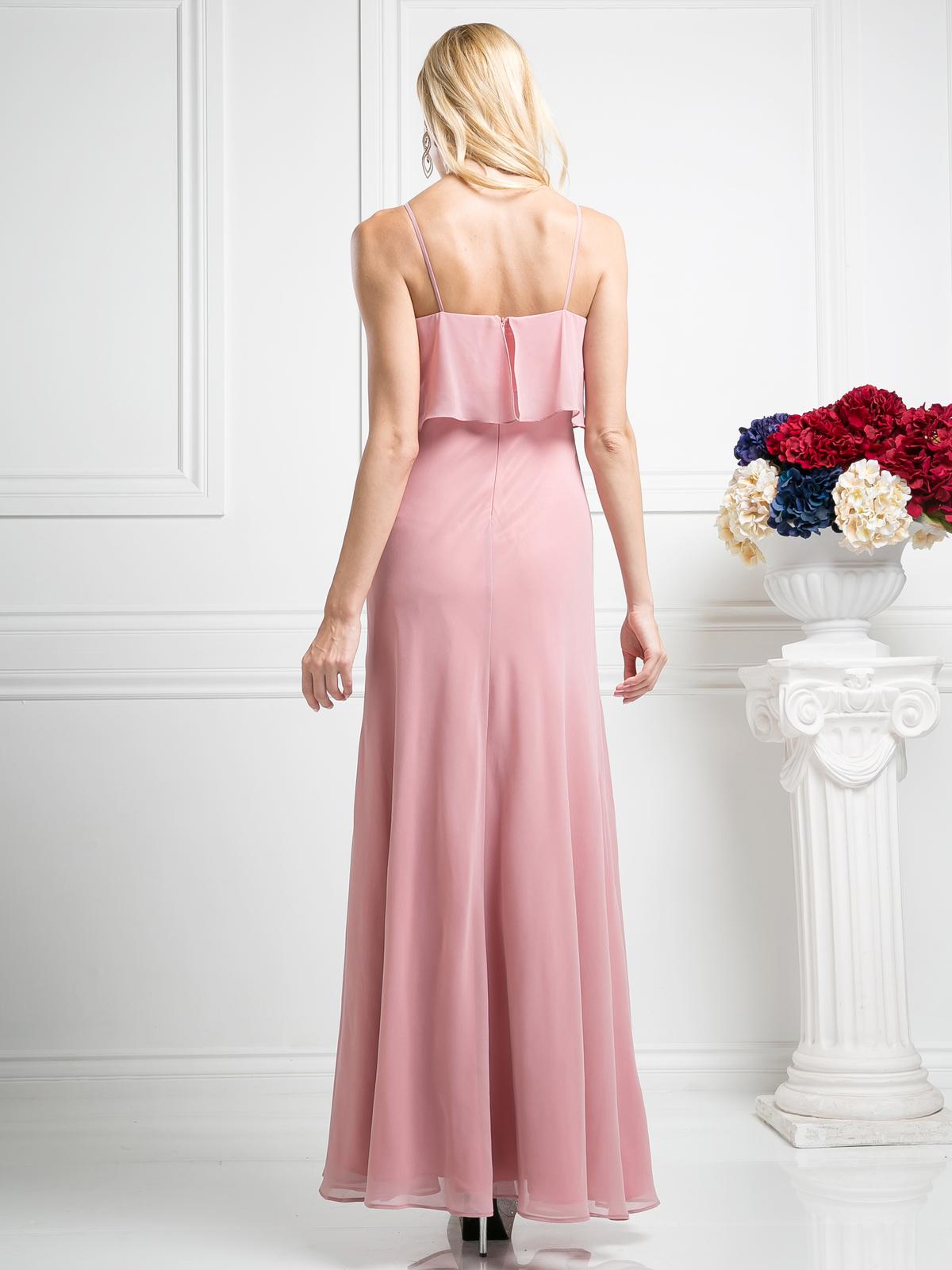 Double Layer Bodice Bridesmaid Dress