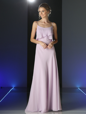 CD-CF074 Double Layer Bodice Bridesmaid Dress, Lilac
