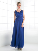 CD-CH1504 Lace V-neck Evening Dress , Royal