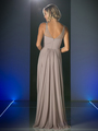 CD-CJ214 Sweetheart Neckline Evening Dress with Beaded Shoulder Straps - Marble, Back View Thumbnail