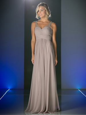 CD-CJ214 Sweetheart Neckline Evening Dress with Beaded Shoulder Straps, Marble