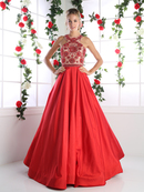 CD-CP801 Elegant Prom Gown with Full Skirt, Red