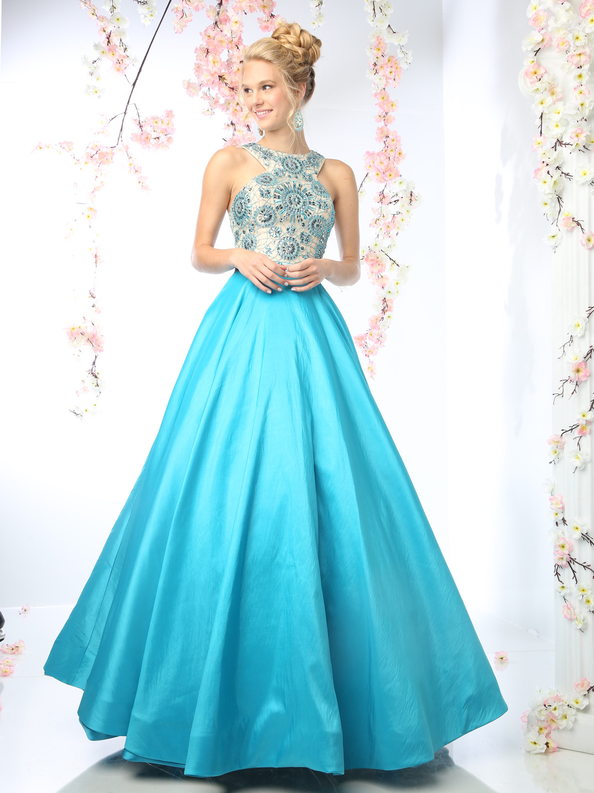 Elegant Prom Gown With Full Skirt Sung Boutique L A