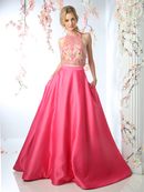 CD-CP811 Two Piece Prom Evening Gown , Fuchsia