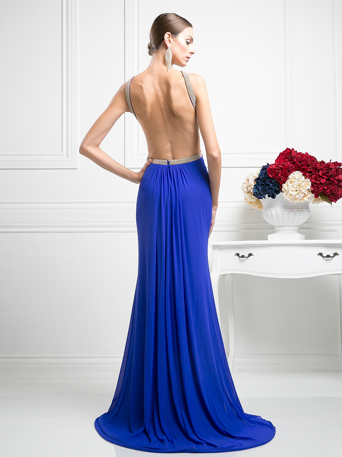 Halter Top Evening Dress with Side Cutouts | Sung Boutique L.A.