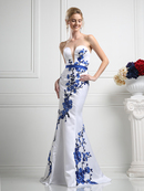 CD-KD052 Strapless Mermaid Evening Gown , White Royal