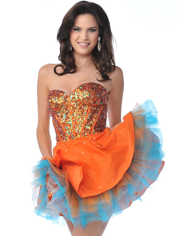 Orange Short Prom Dresses