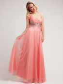Coral Asymmetrical A-line Special Occasion Dress