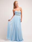 Sky Blue Chiffon Sweetheart Special Occasion Dress