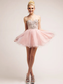 Jeweled Boidce Sweetheart Party Dress