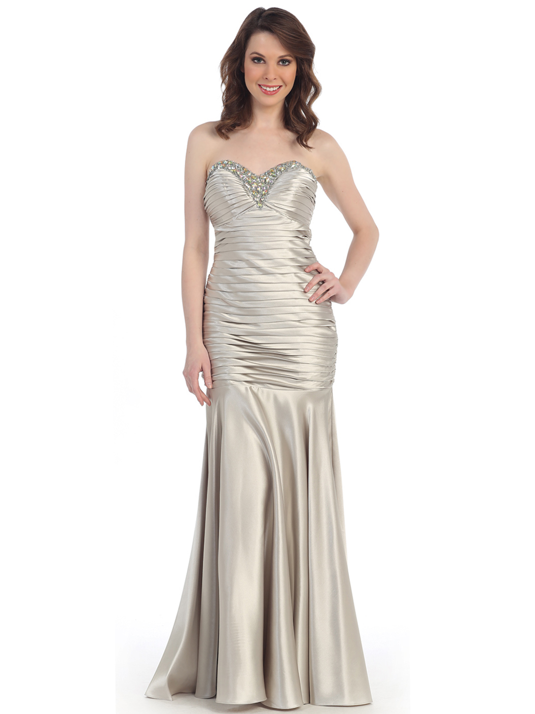 Strapless Sweetheart Dropped Waist Mermaid Gown | Sung ...