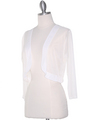 COT-758 3/4 Sleeve Sheer Bolero - Off White, Alt View Thumbnail
