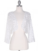 Off White Sequin Bolero