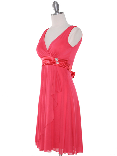CP2069-D Missy Knit Cocktail Dress - Coral, Alt View Medium