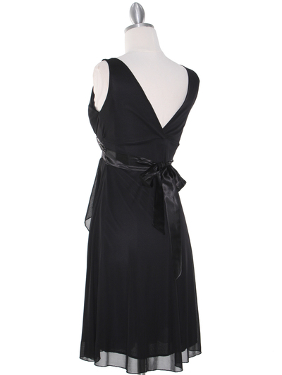 CP2069-D Missy Knit Cocktail Dress - Black, Back View Medium