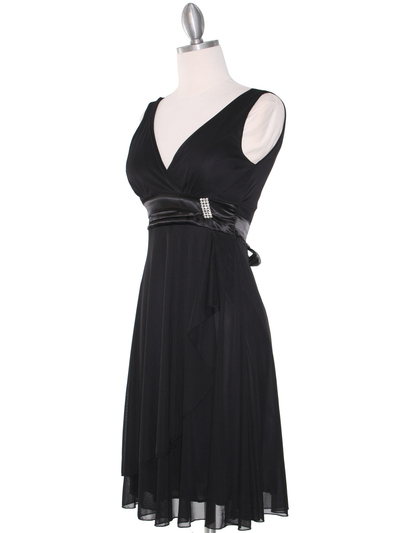 CP2069-D Missy Knit Cocktail Dress - Black, Alt View Medium