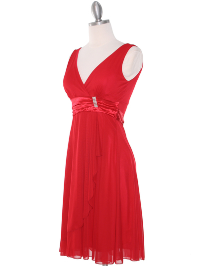 CP2069-D Missy Knit Cocktail Dress - Red, Alt View Medium