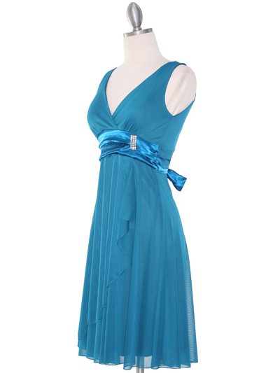 CP2069-D Missy Knit Cocktail Dress - Teal, Alt View Medium