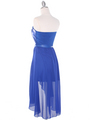 CP2209-seq Sequin Top Chiffon High-low Cocktail Dress - Royal Blue, Back View Thumbnail