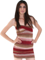Multi Color Bodice Dress - Front Image