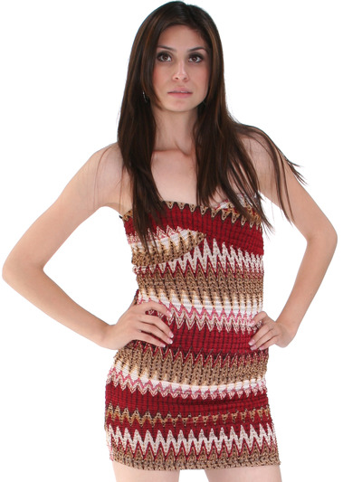 D0017 Multi Color Bodice Dress - Multi, Front View Medium