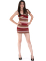 D0017 Multi Color Bodice Dress - Multi, Alt View Thumbnail