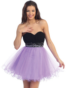 Dual Colors Homecoming Dress
