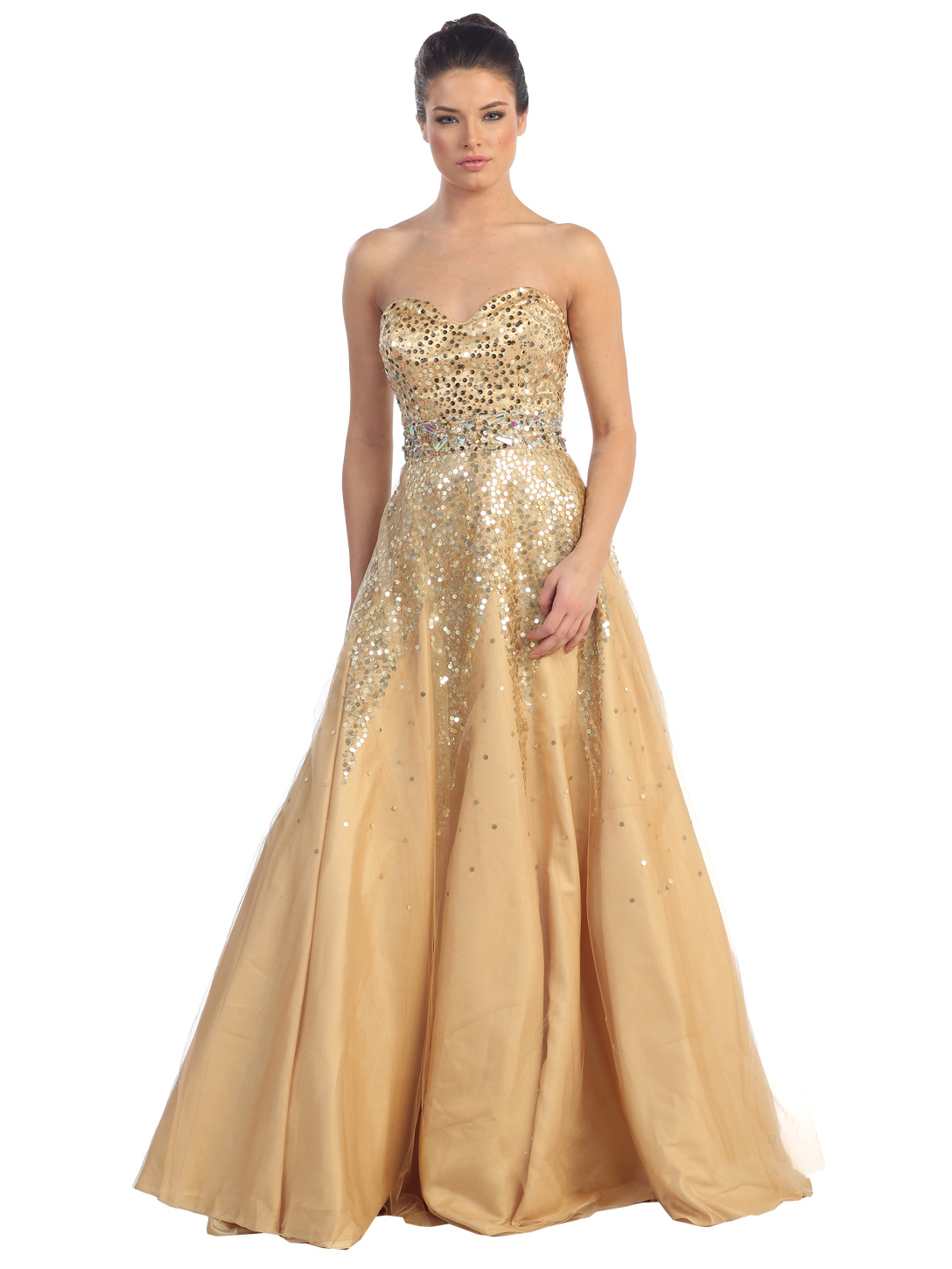 Sweetheart Sequin Evening Gown | Sung Boutique L.A.