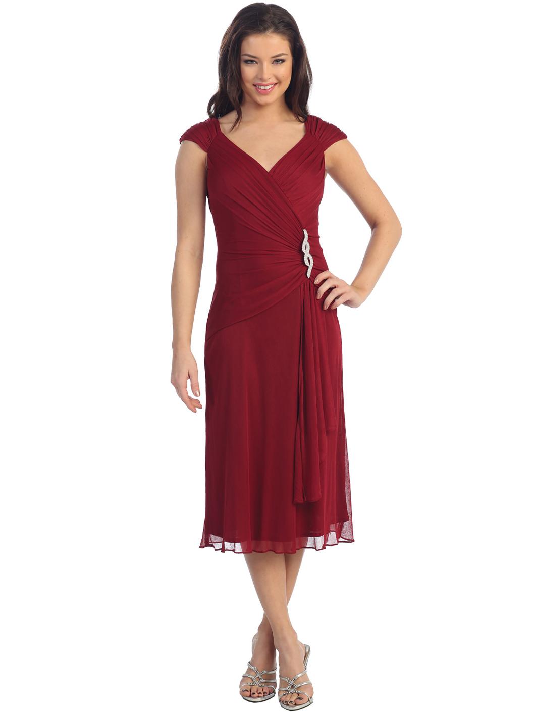 Cap-sleeve Cocktail Dress   Sung Boutique L.A.