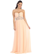 Sweetheart Embroidery Long Prom Dress