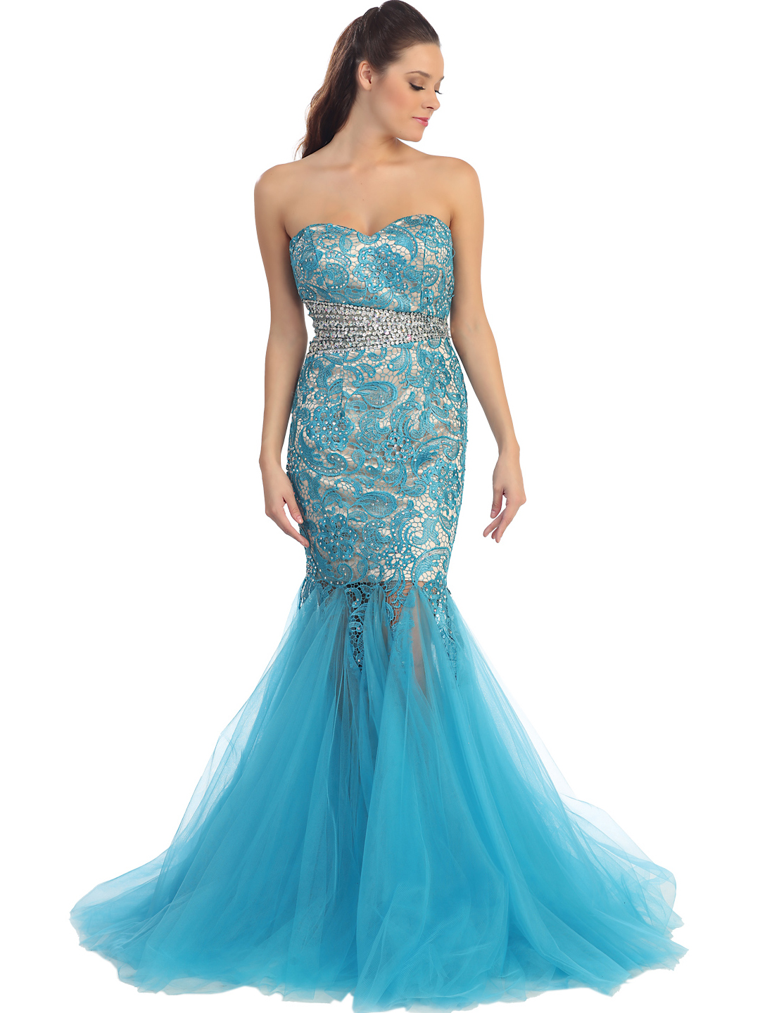 Fit Then Flared Prom Dress