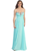 Plunging Strapless Prom Dress