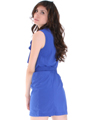 DN8133 Ruffle Neckline Day and Night Dress - Royal, Back View Thumbnail