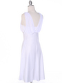 E1165 White Graduation Dress with Rhinestone Trim - White, Back View Thumbnail
