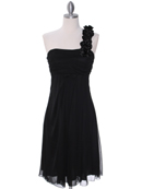 Black One Shoulder Cocktail Dress