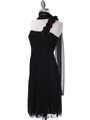 E1801 Black One Shoulder Cocktail Dress - Black, Alt View Thumbnail