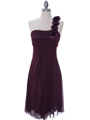 E1801 Purple One Shoulder Homecoming Dress - Purple, Front View Thumbnail