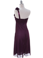 E1801 Purple One Shoulder Homecoming Dress - Purple, Back View Thumbnail