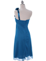 E1801 Teal One Shoulder Homecoming Dress - Teal, Back View Thumbnail