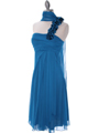 E1801 Teal One Shoulder Homecoming Dress - Teal, Alt View Thumbnail