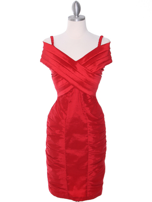E1895 Red Cocktail Dress, Red