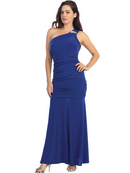 One Shoulder Knitted Evening Dress